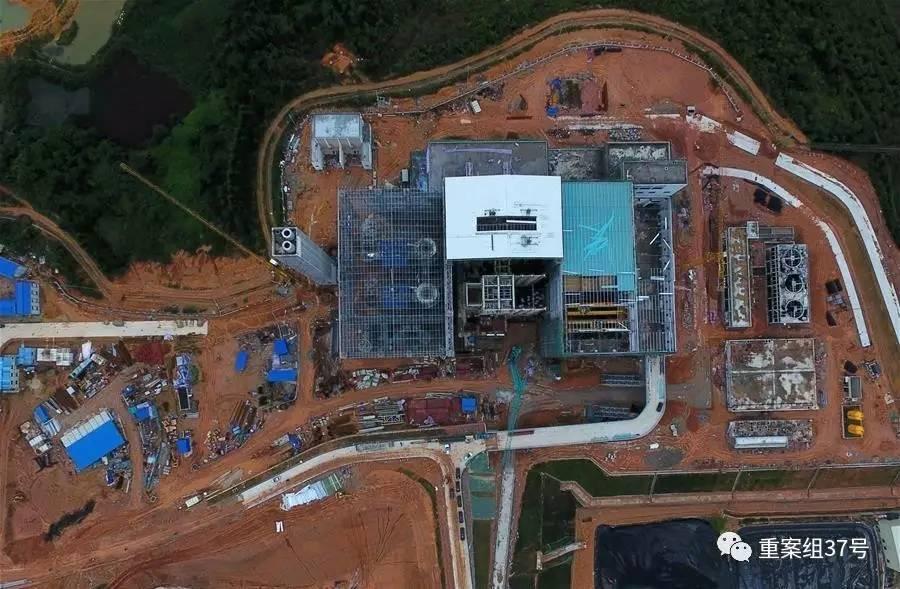 ▲发生事故的在建广州第七热力发电厂航拍图。图片来源/新华网