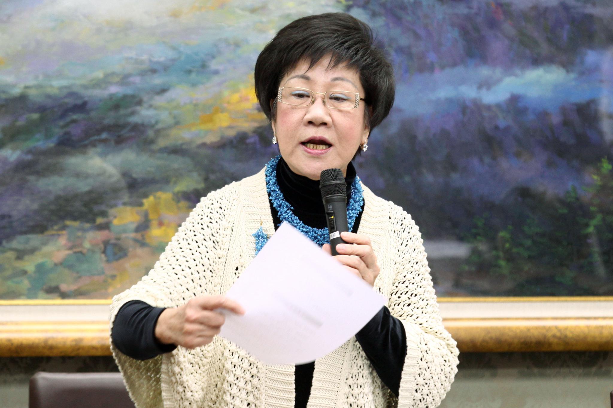 """吕秀莲访问泰国被再次拒发签证 称""""没有放弃"""""""