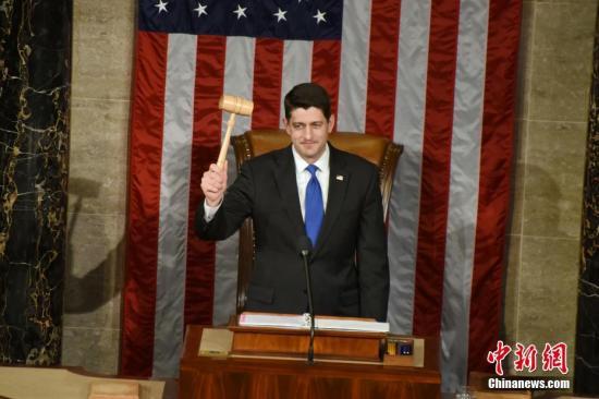 资料图:美国共和党籍众院议长保罗·瑞安。图为瑞安。 中新社记者 张蔚然 摄