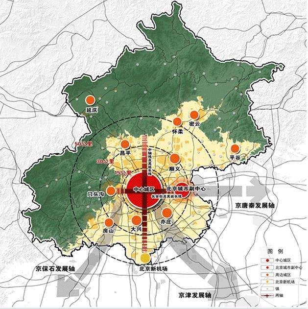 怀柔城区手绘地图