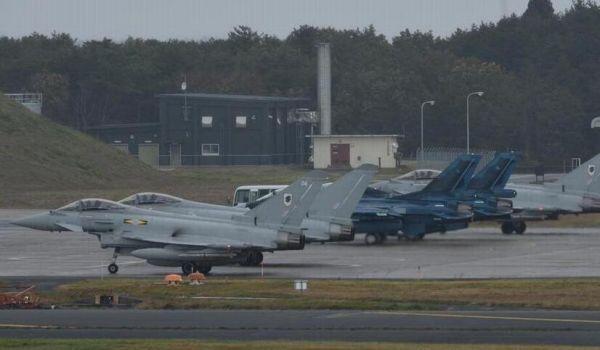 资料图:英国台风战机赴日本与自卫队联合军演。