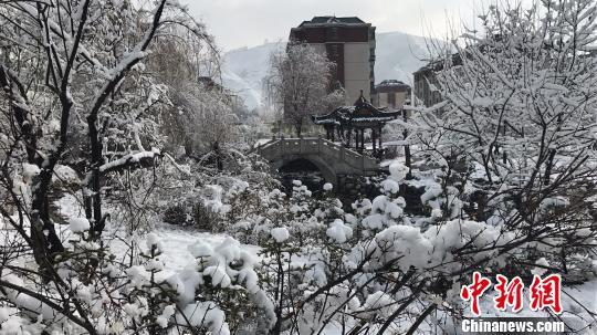 冷空气袭来 青海省多地迎来春雪(图)