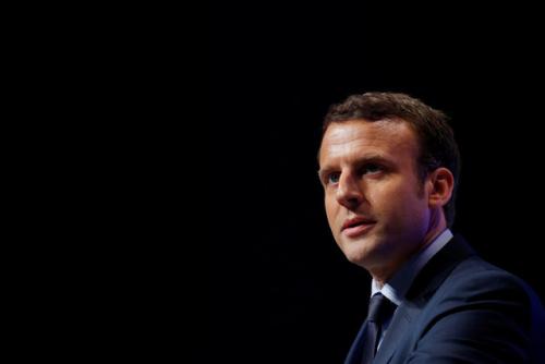资料图:法国中间派总统候选人马克龙。(图片来源:路透社)