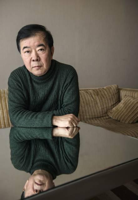《人民的正义》编剧周梅森 摄影/本刊记者董洁旭