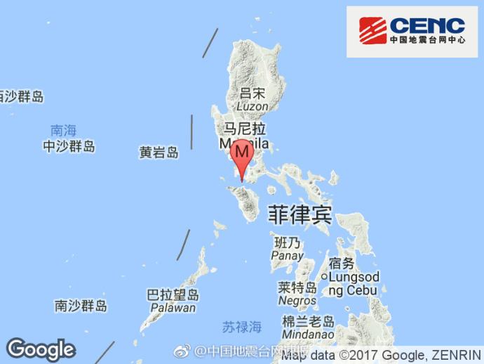 菲律宾15时7分发生5.7级地震 震源深度10千米