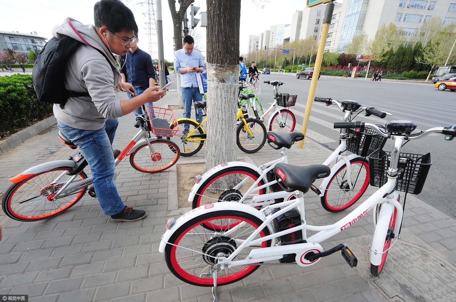 北京:共享电动单车被叫停后重现街头