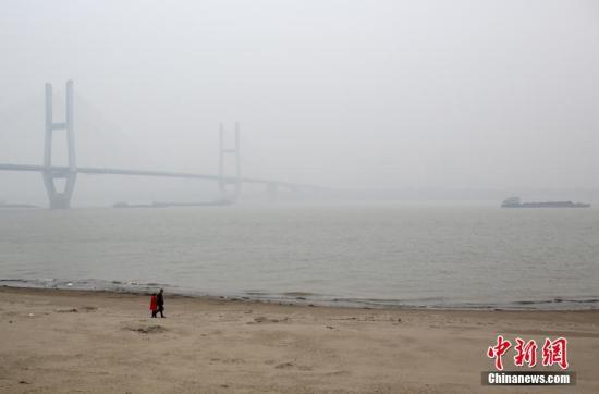 材料图:长江武汉段。中新社记者 张畅 摄