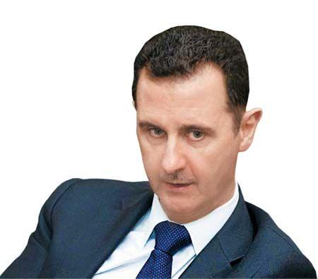 叙利亚总统巴沙尔<span class=