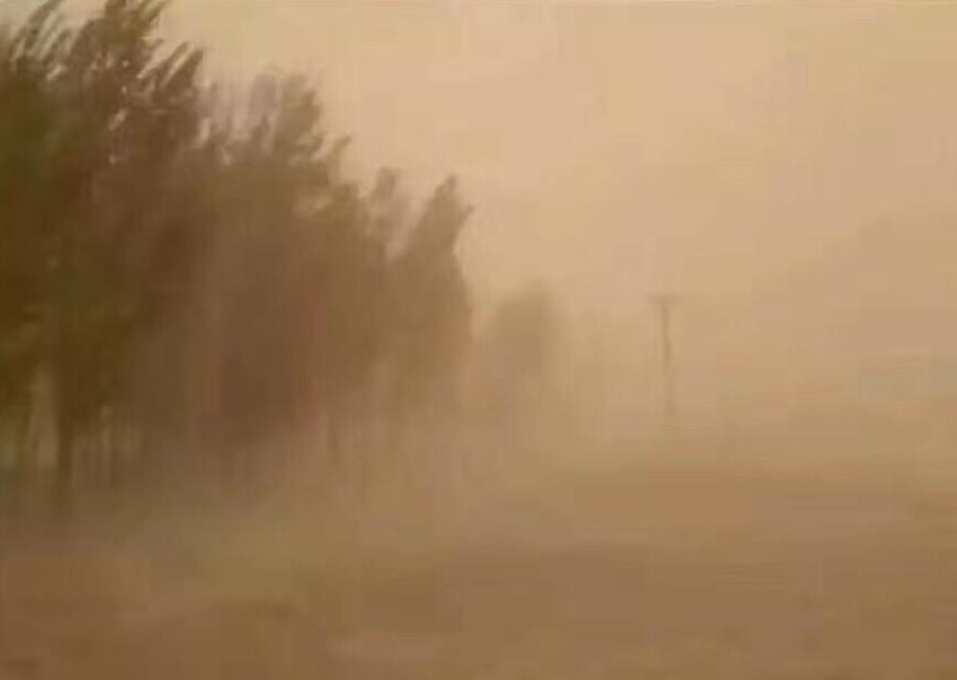 甘肃武威金昌迎沙尘天气 部分地区能见度不足500米