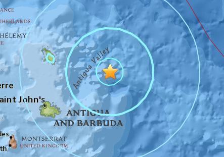 安提瓜和巴布达附近海域发生5.6级地震