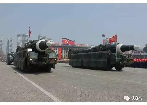 """朝鲜新型""""火星""""中远程液体燃料弹道导弹"""