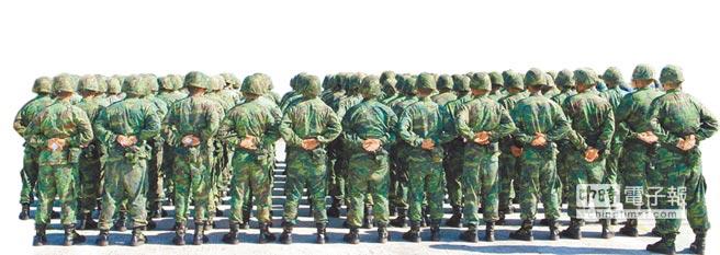 图为台陆军澎湖防卫指挥部士兵,人物内容与新闻无关(图片来源:台湾《中时电子报》)。