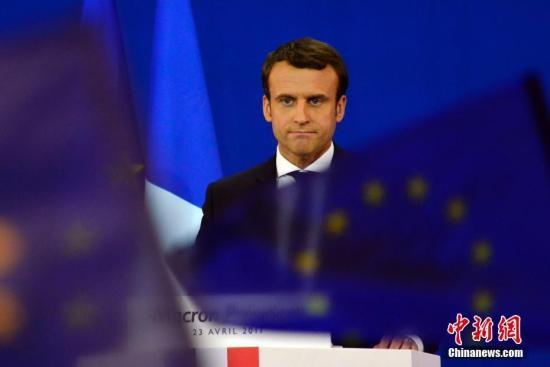 资料图片:法国总统马克龙。