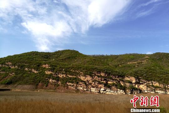 图为陕西铜川石川河二叠系-三叠系野外露头。 田力 摄
