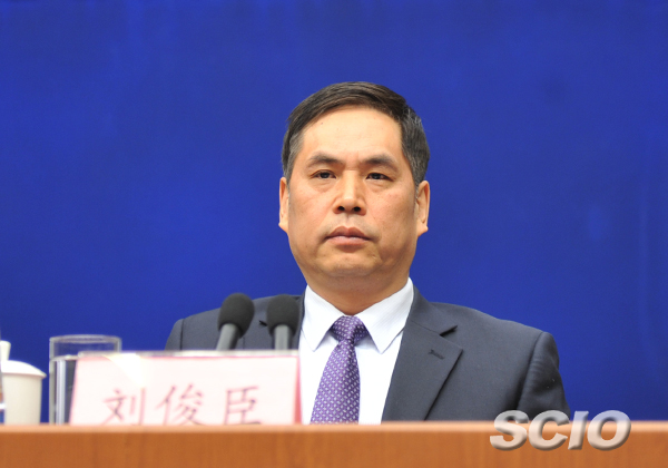 国家工商行政管理总局副局长刘俊臣(图片来自国务院新闻办公室网站)