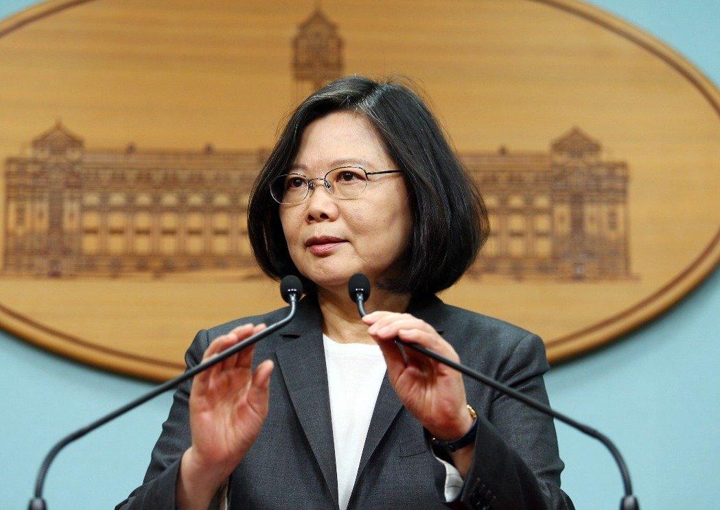 蔡英文。(图片来源:台湾《联合报》)