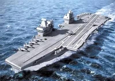 """英国""""伊丽莎白女王""""级航母的吨位和中国航母相当"""
