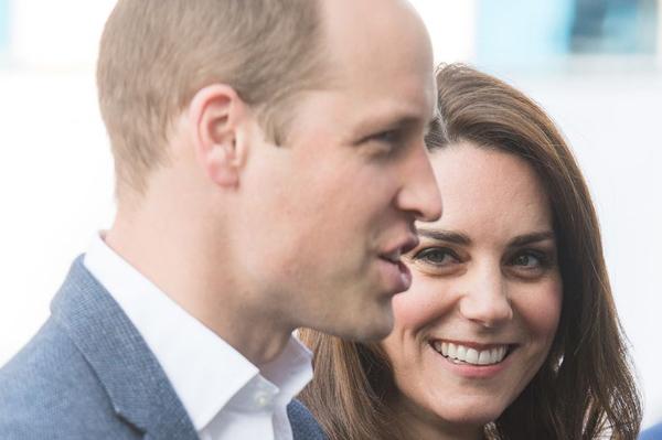 英国威廉王子和凯特王妃。