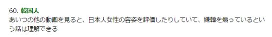 ▲看了那家伙的其他动画,都是一些评价日本女性的容貌啊,煽动厌恶韩国的言论之类的视频,于是也能理解他被骂了。