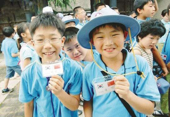 资料图:韩国小学生