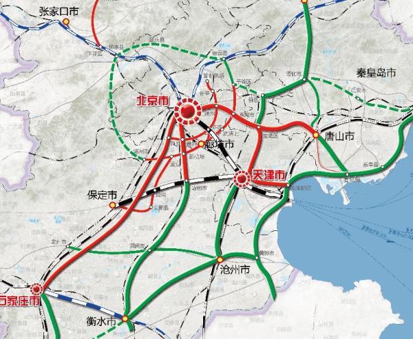 雄安新区铁路规划前瞻:与京津冀三地机场无缝