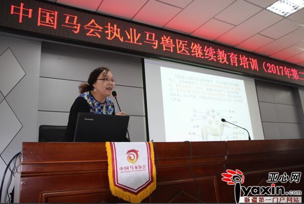 新疆裕民县举办中国码会执业码兽医继续教育培