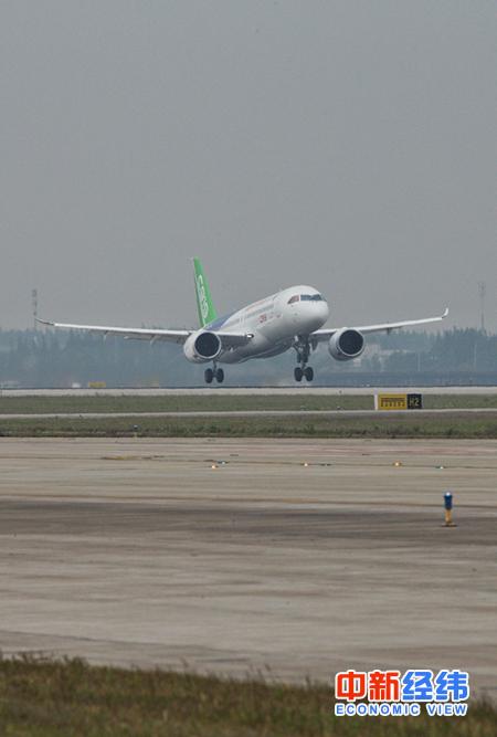 中国国产大飞机c919成功首飞 记住这些威武瞬间!
