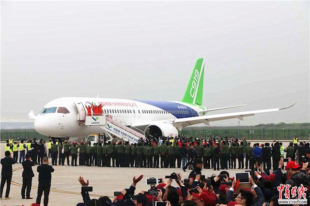 国产大型客机c919首飞成功|客机|飞机|民用飞机_新浪