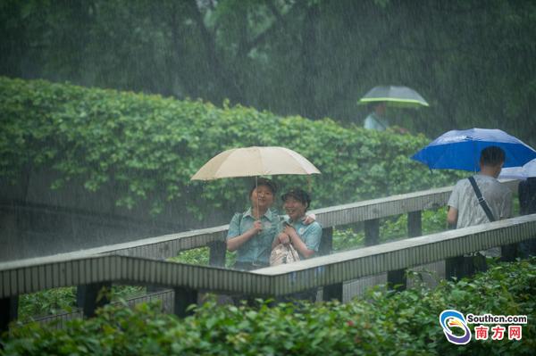 广州多地遭受强降雨