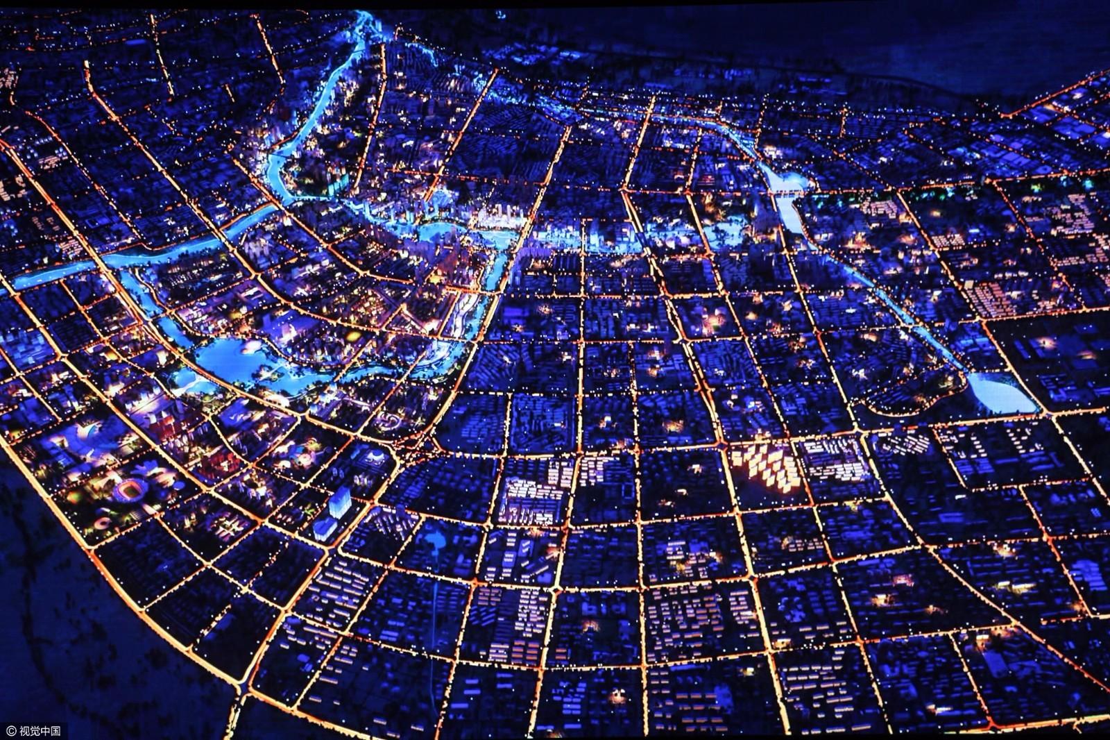 裸眼3d图片怎么看_裸眼3d看城市全景 高科技数字沙盘亮相新疆