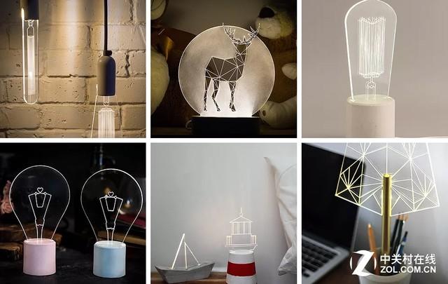 制作成各种形状的扁平化LED灯,让人赞叹不已