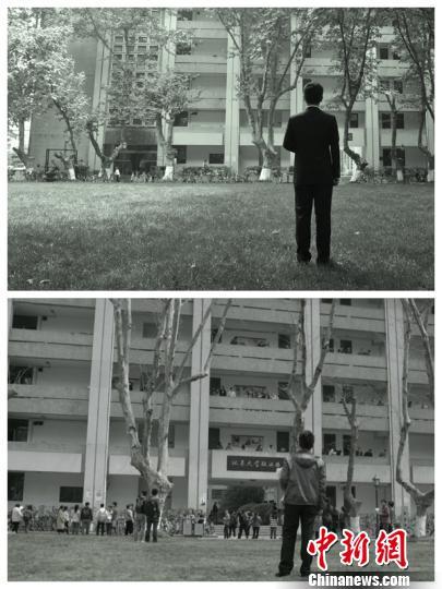 """《人民的名义》原版""""再现"""",南京东南大学学子设计别样""""毕业照"""" 。 曲钢 摄"""