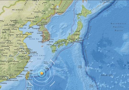 日本西南海域发生6.4级地震 官方称无海啸危险