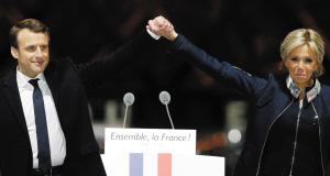 """法国最年轻""""掌门"""" 老婆大他24岁"""