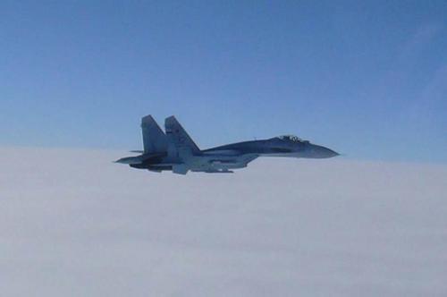 """""""苏-27""""战机(资料图)"""