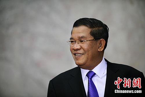 资料图:柬埔寨首相洪森。中新社记者 廖攀 摄