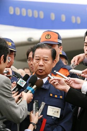 资料图:日本自民党干事长二阶俊博 新华社记者任正来摄