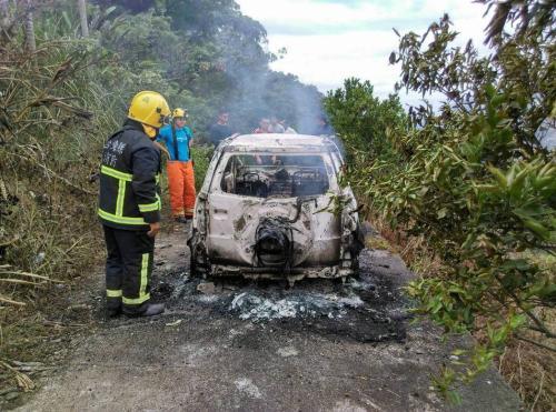 台湾山区发生火烧车意外1死1伤 警方疑有内情