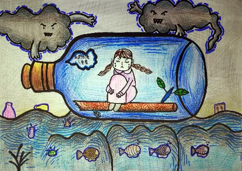 """2017重庆环保网络晚会 """"环保有我""""创意作品:n103:赵思语 《呼吸的痛》图片"""