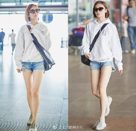 袁姗姗不穿裤子就出门了?网友:这双腿太真实了