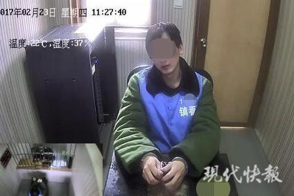 王强(化名)在接受审讯。 警方 供图