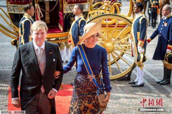 资料图:荷兰国王威廉亚历山大与马克西玛王后。