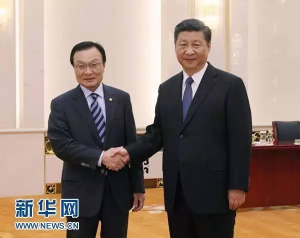 习近平会见韩国总统特使李海瓒
