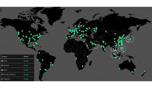 勒索病毒受害區域地圖