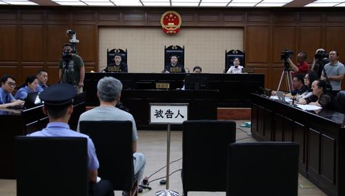 图为庭审现场 王鑫刚 摄