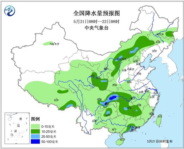 四川湖北等地有暴雨 东北降雨缓旱情