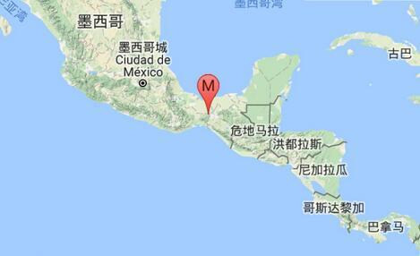 墨西哥发生5.7级地震 震源深度140千米