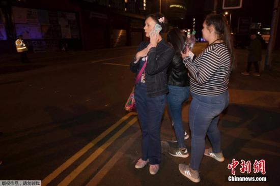 资料图 英国曼彻斯特体育场发生爆炸,数十人死伤。