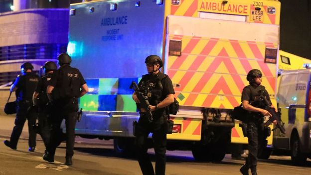 曼彻斯特爆炸案初步认定为自杀式炸弹袭击 已造成至少19人死亡