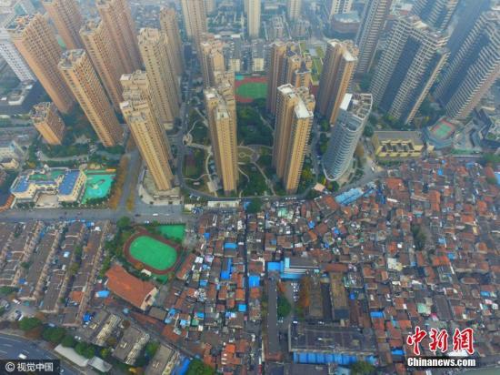2016年12月07日,上海,航拍上海最大的棚户区——张桥。蒋一超 摄 图片泉源:视觉中国